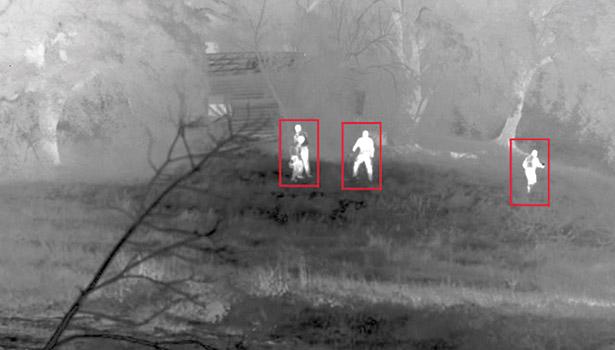 Betrouwbare detectie met thermische camera's.